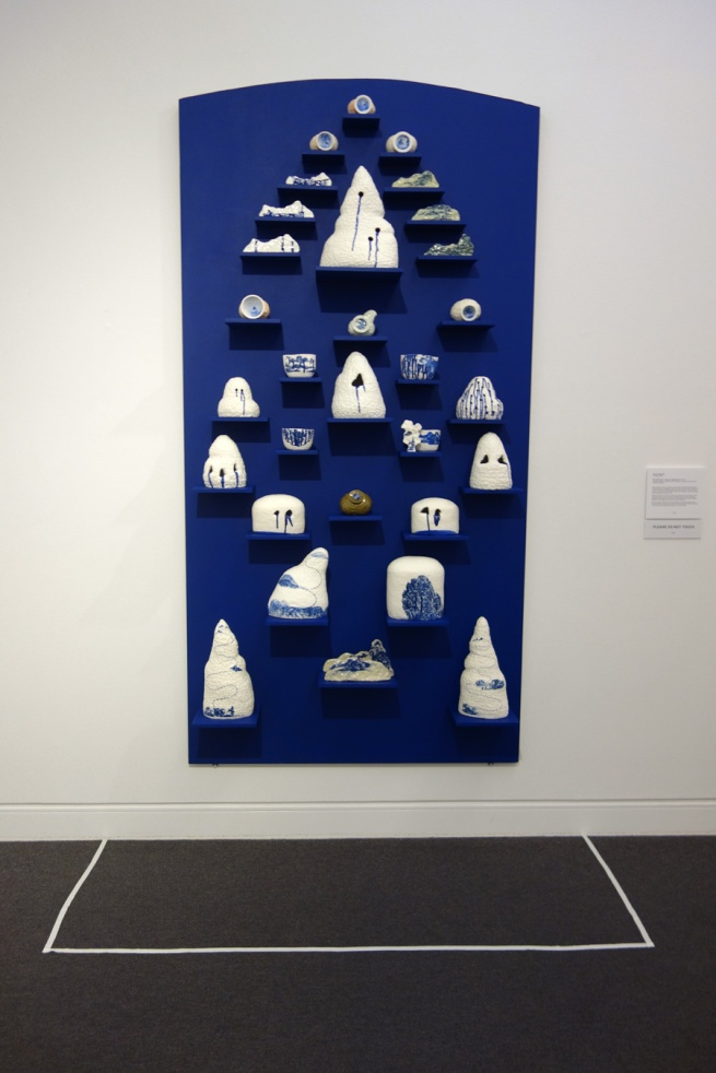 Robyn Phelan (b. Australia 1965) 'Porcelain wall – ode to an obsession' 2010-15