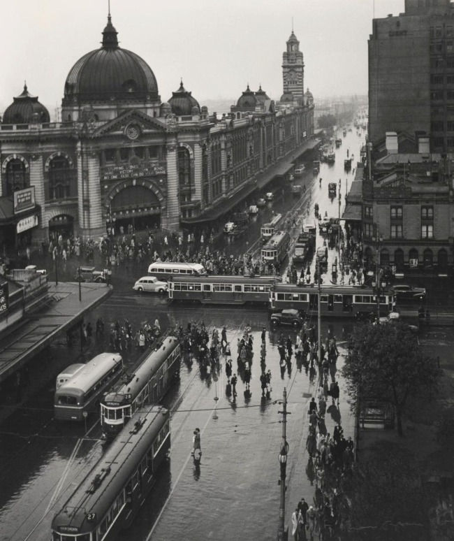 Max Dupain (Australia 1911-92) 'Melbourne with rain' 1946