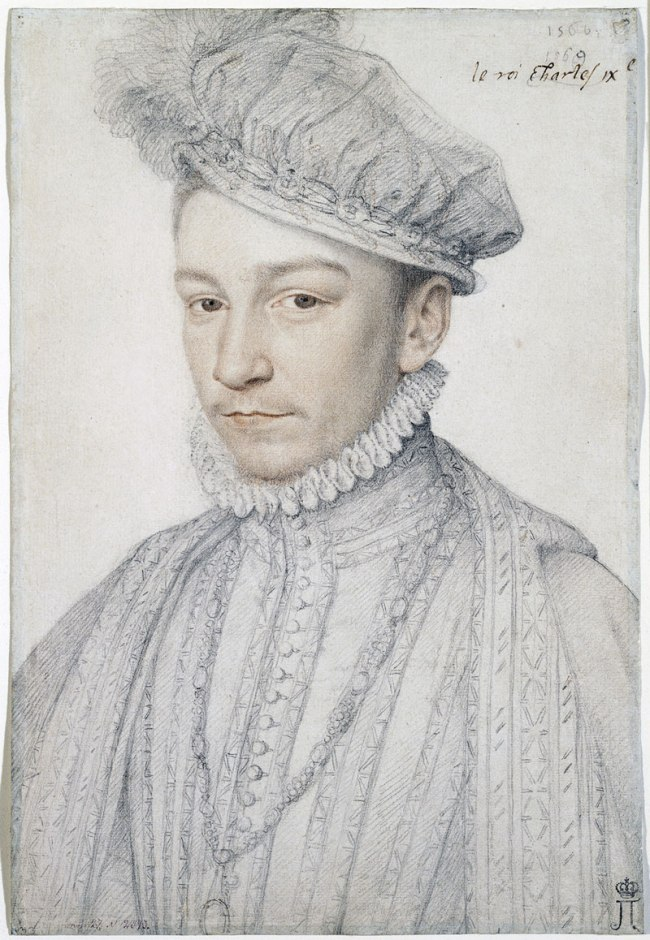 Francois CLOUET (French (c. 1516)–1572) 'Portrait of Charles IX' 1566