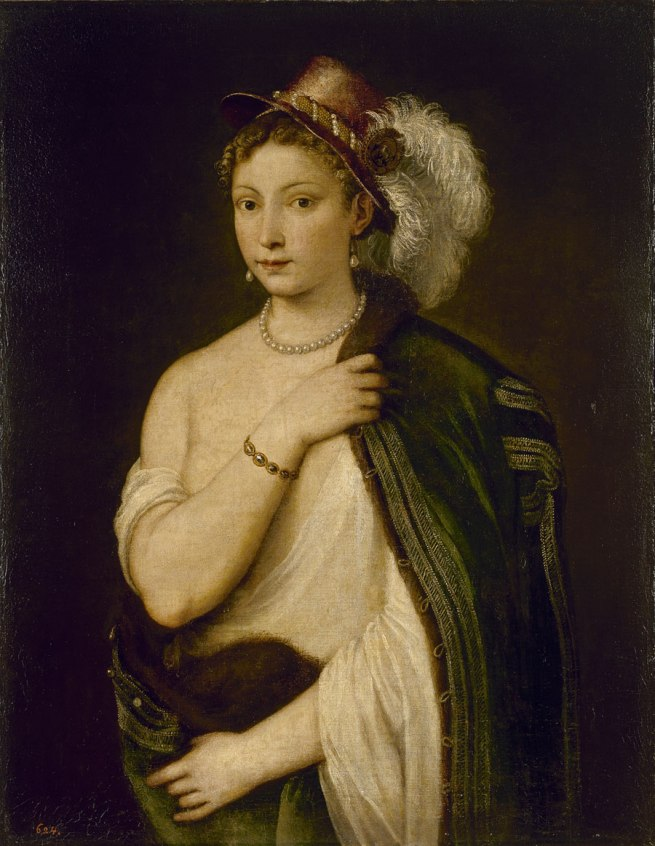 Titian (Italian (1485–90)–1576) 'Portrait of a young woman' c. 1536