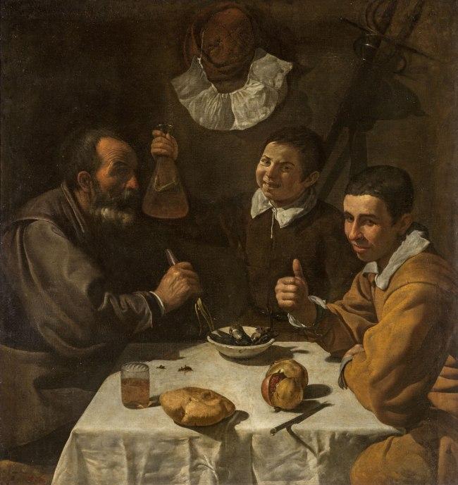 Diego Velazquez (Spanish 1599–1660) 'Luncheon' c. 1617–18