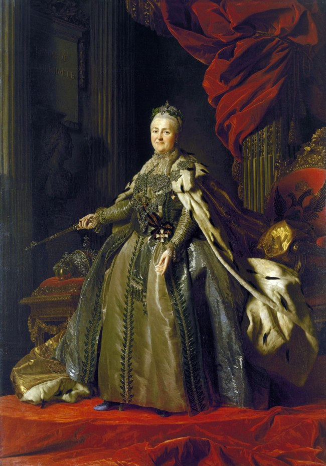 Alexander Roslin (Swedish 1718–93) 'Portrait of Catherine II' 1776–77