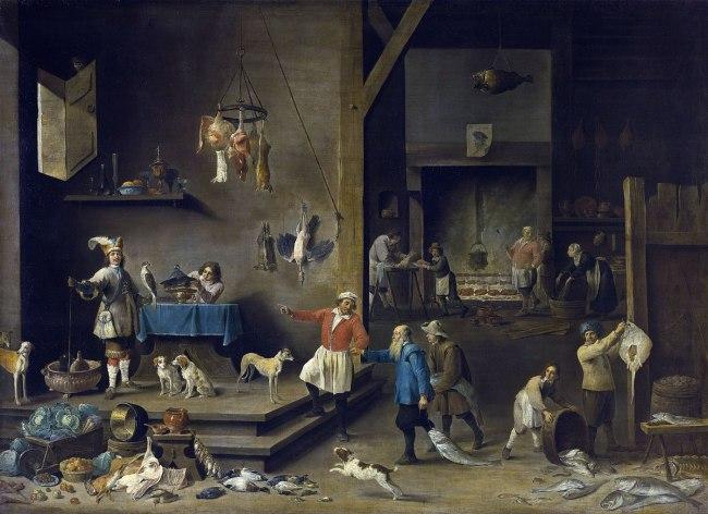 David Teniers II (Flemish 1610–90) 'Kitchen' 1646