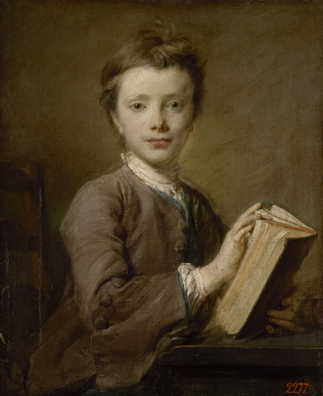 Jean-Baptiste Perronneau (French 1715–83) 'Portrait of a boy with a book' 1740s