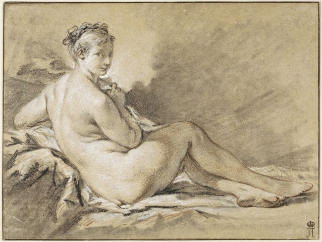 François Boucher (French 1703–70) 'Study of a female nude' 1740
