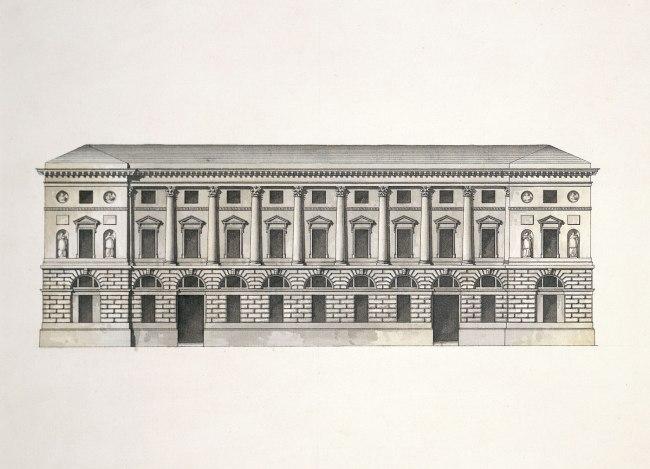 Giacomo Quarenghi (Italian 1744–1817) 'Façade of the Hermitage Theatre' 1780s