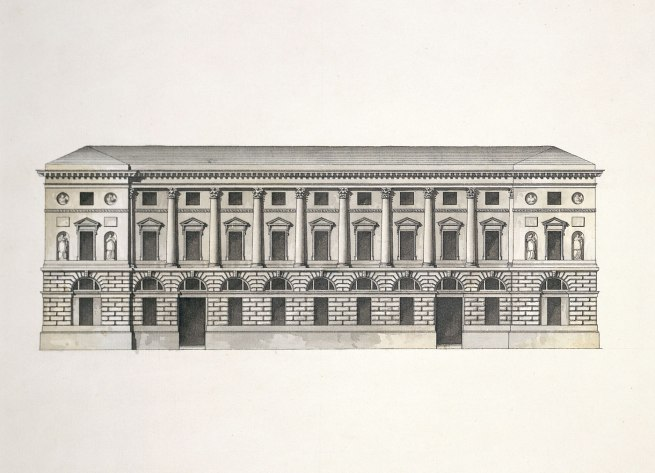 Giacomo Quarenghi (Italian 1744–1817) 'Façade of the Hermitage Theatre' 1780s