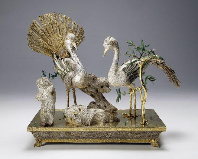 Chinese. 'Table decoration in the form of a pair of birds' 1740s –50s
