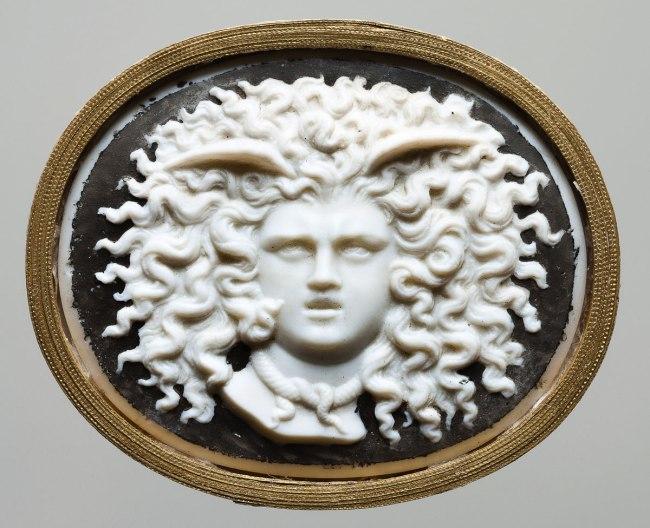 James Tassie, London (workshop of) (England 1735–99 ) 'Head of Medusa' 1780s