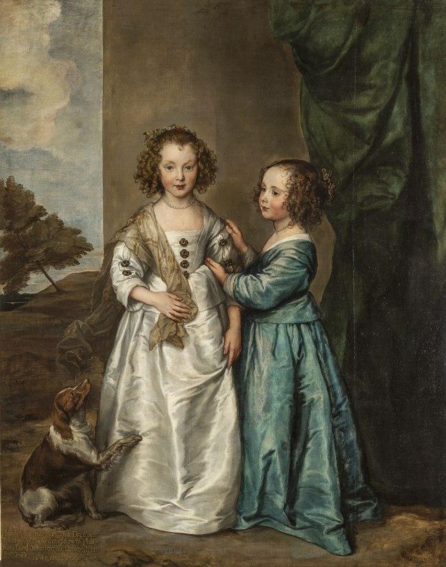 Anthony van Dyck (Flemish 1599–1641) 'Portrait of Philadelphia and Elizabeth Wharton' 1640