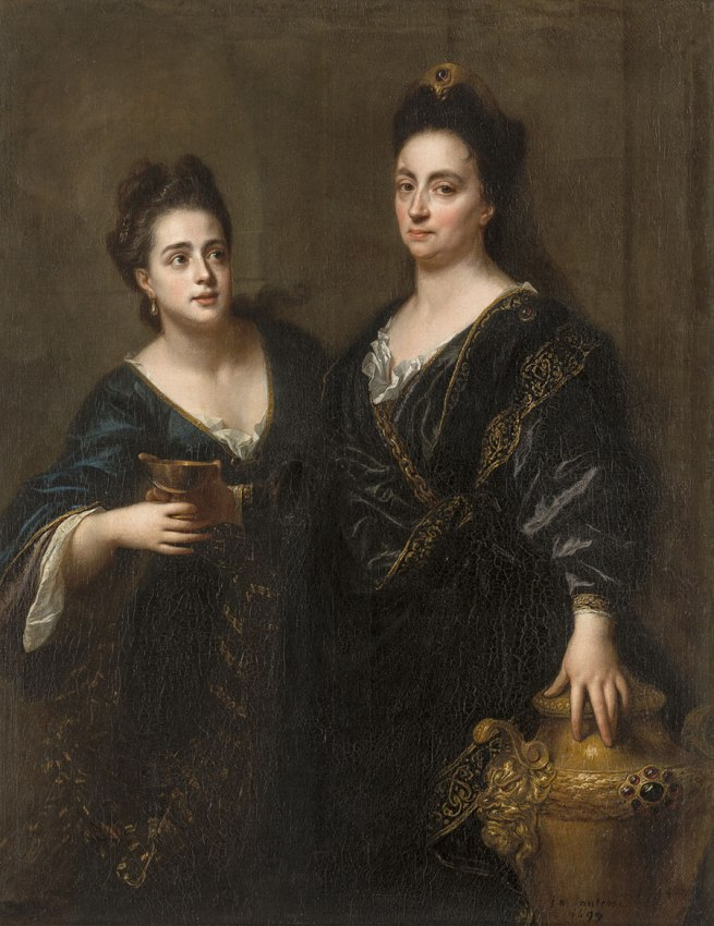 Jean-Baptiste Santerre (French 1651–1717) 'Two actresses' 1699