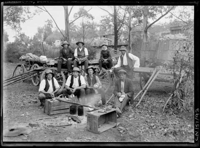 Rex Hazlewood (1886-1968) '[Men drinking billy tea]' 1911 - 1927