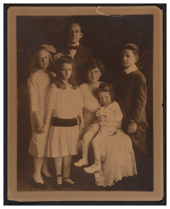 Unidentified photographer. 'The Cornell family' c. 1915