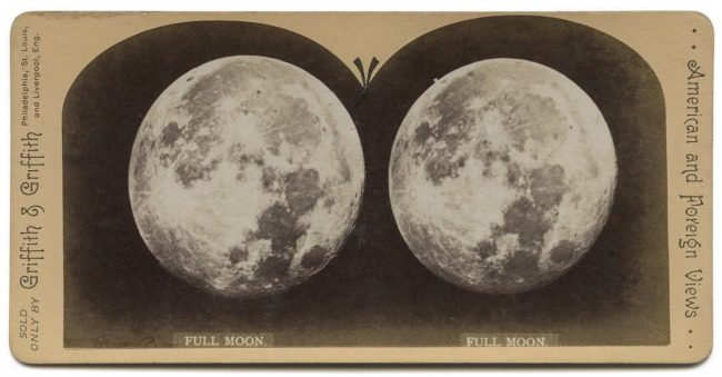 Unknown photographer. 'Full Moon' 1850-1900