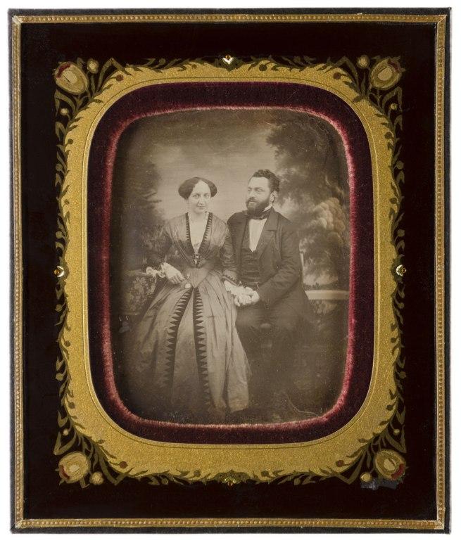 Carl Ferdinand Stelzner. 'Unknown couple' 1830-1880