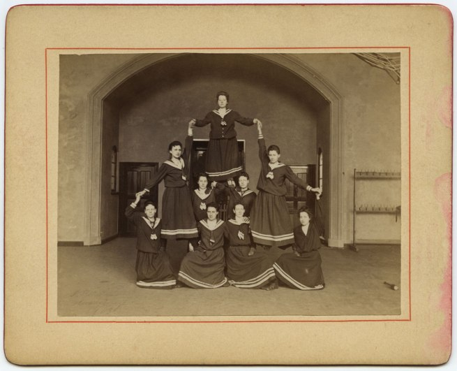 Johann Hamann. 'The Women's Department Forms an Artful Pyramid' 1903