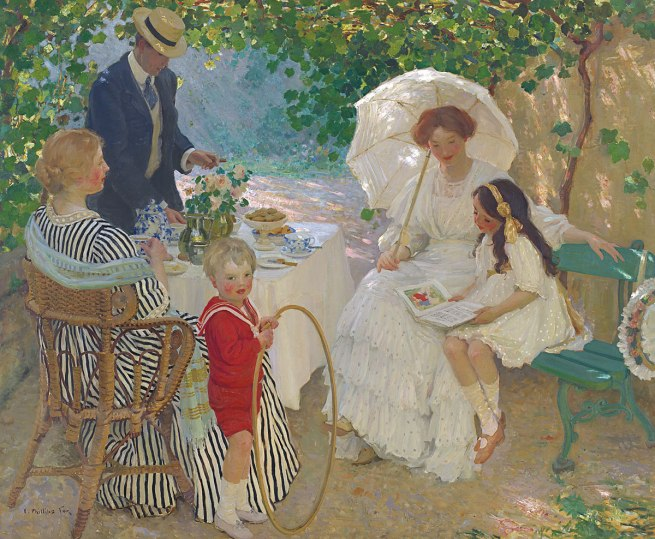 E. Phillips Fox (b. Australia 1865; d. Victoria 1915) 'The arbour' 1910