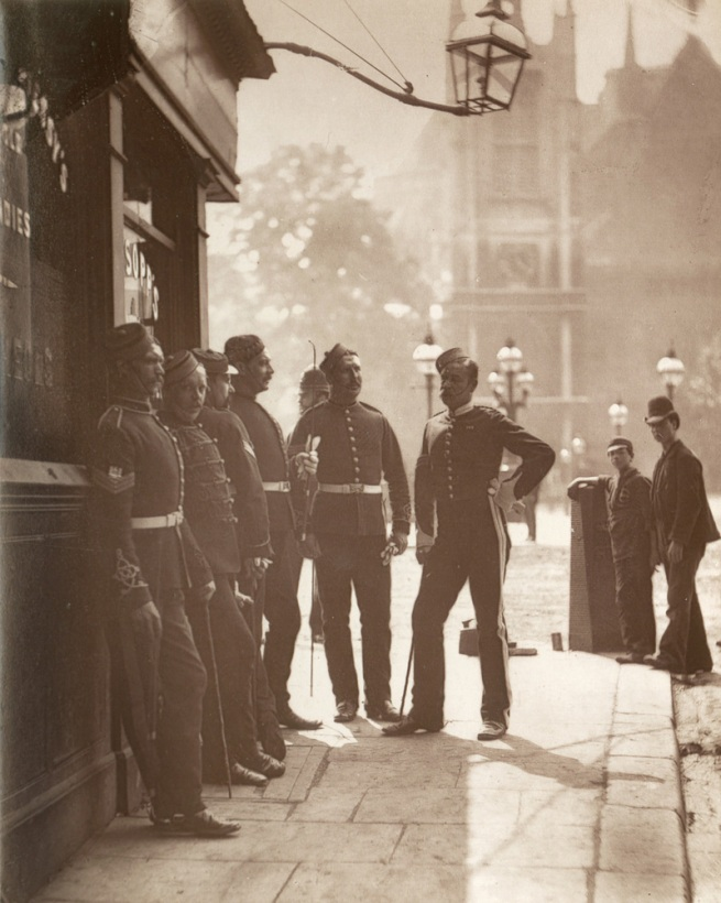 John Thomson. 'Recruiting Sergeants At Westminster' 1877