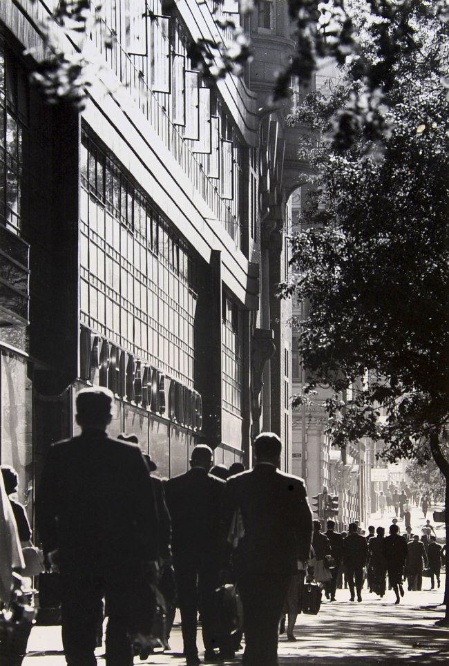 Mark Strizic (born Germany 1928; arrived Australia 1950; died 2012) 'Collins Street at McPherson's building - 1, 1967' 1967
