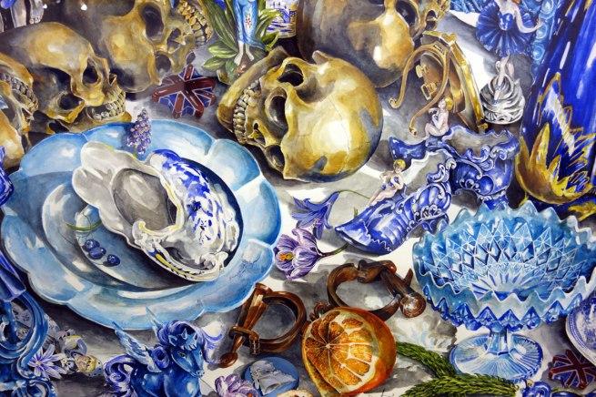eX de Medici (b. Australia 1959) 'Blue (Bower-Bauer)' 1998-2000 (detail)
