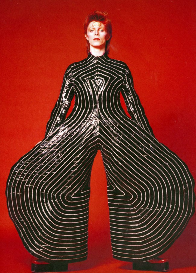 Kansai Yamamoto. 'Striped bodysuit for the Aladdin Sane tour' 1973