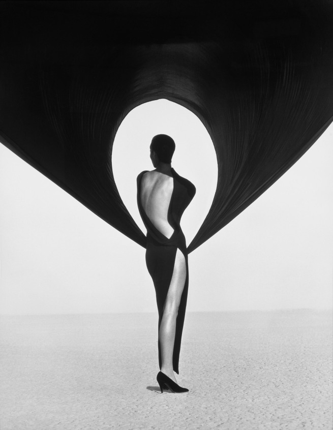 Herb Ritts. 'Versace Dress, Back View, El Mirage' 1990