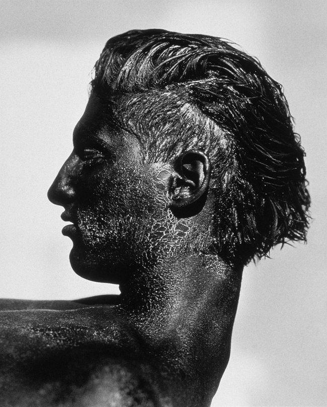 Herb Ritts. 'Tony with Black Face, Profile, Los Angeles' 1986