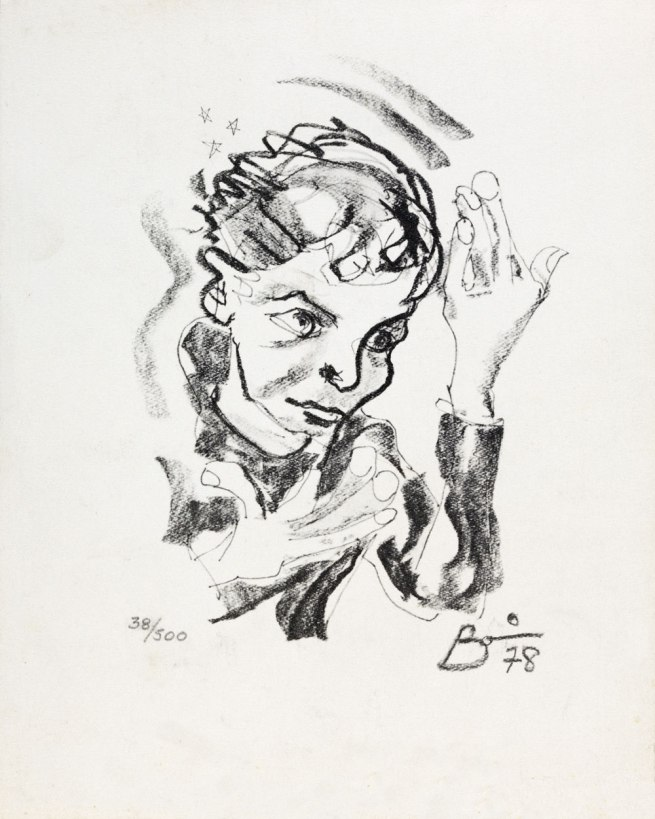 'Print after a self‐portrait by David Bowie' 1978