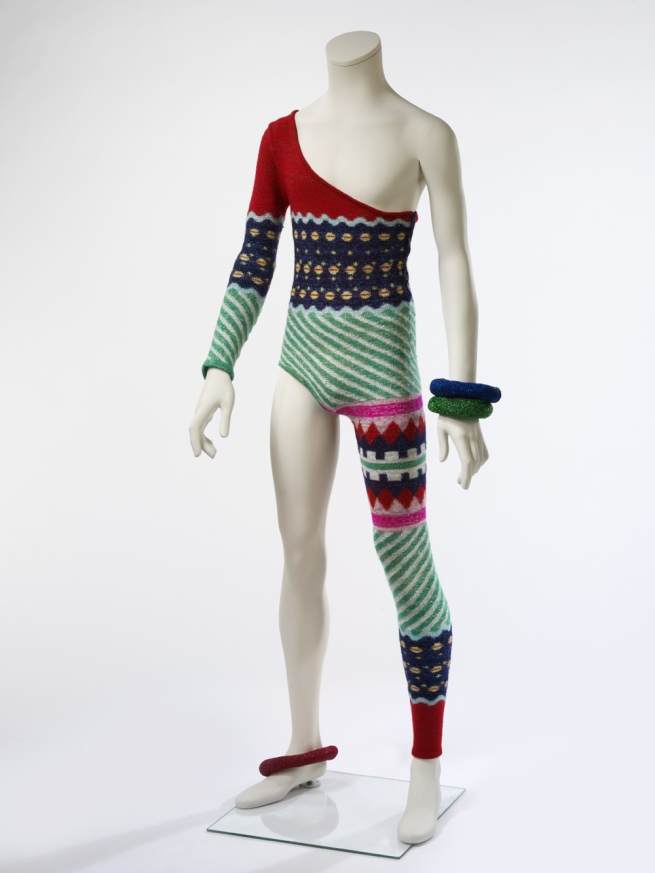 Kansai Yamamoto (designer) 'Asymmetric knitted bodysuit' 1973