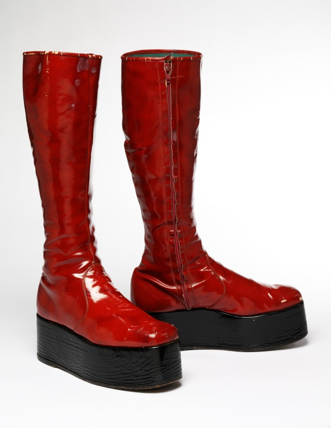 'Red platform boots for the 1973 'Aladdin Sane' tour' 1973