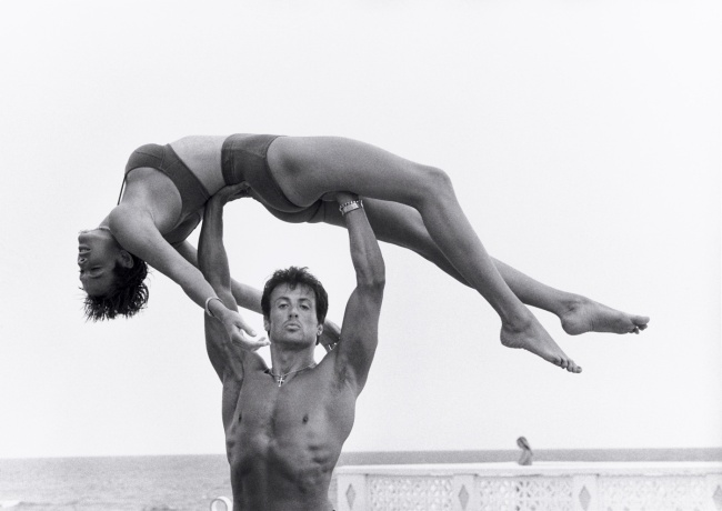 Herb Ritts. 'Sylvester Stallone and Brigitte Nielsen, Long Island' 1987
