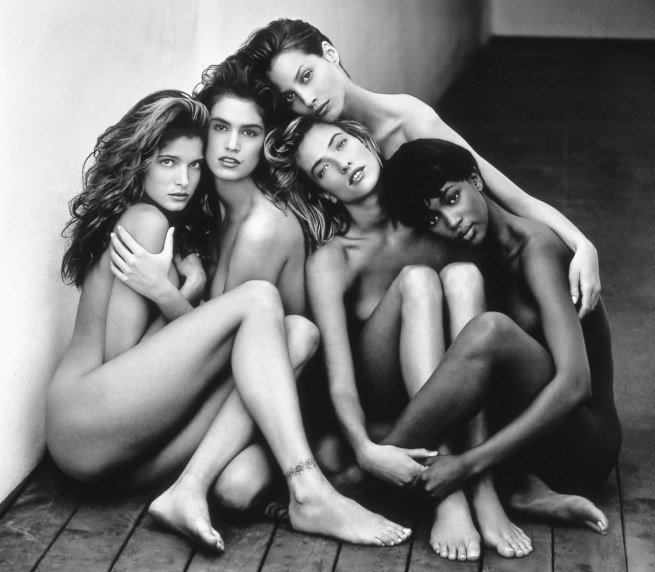 Herb Ritts. 'Stephanie, Cindy, Christy, Tatjana, Naomi, Hollywood' 1989