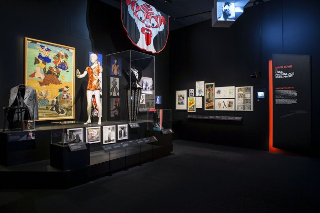Installation photographs of the exhibition David Bowie is at the Australian Centre for the Moving Image, Melbourne