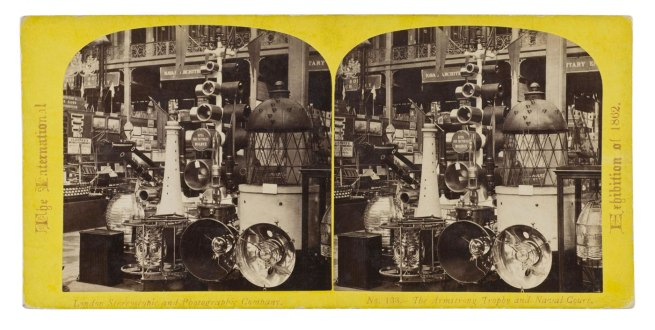 Staff photographer of the London Stereoscopic and Photographic Company (probably William England). 'The Armstrong Trophy and Naval Court' 1862