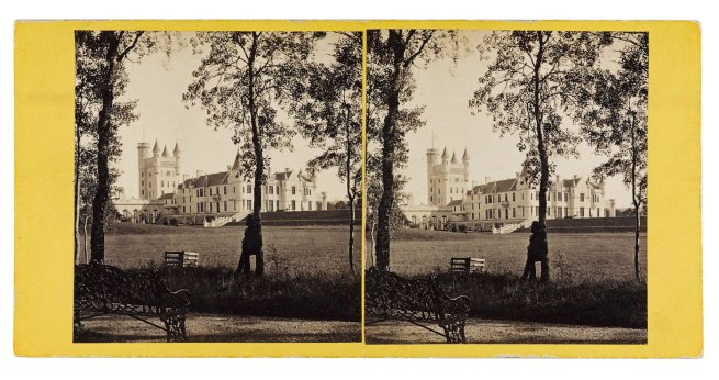 George Washington Wilson, Aberdeen. 'Balmoral Castle from the N.W.' 1863