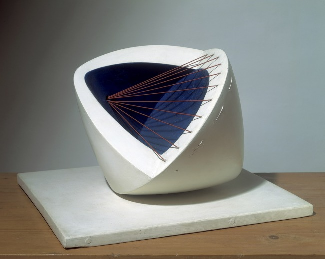 Barbara Hepworth. 'Sculpture with Colour (Deep Blue and Red) (6)' 1943