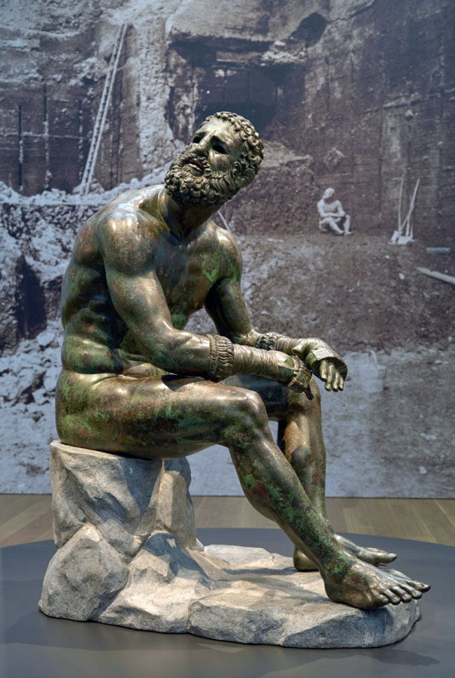 "Seated Boxer, ""The Terme Boxer"" 300-200 B.C."