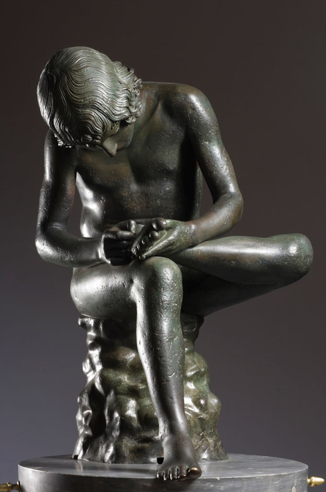 "Boy Removing a Thorn from His Foot ""The Spinario"" About 50 B.C."