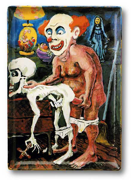 Jerome Caja (Born Cleveland, Ohio, 1958; Died San Francisco, California, 1995) 'Bozo Fucks Death' 1988