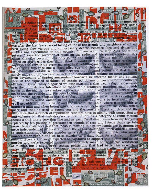David Wojnarowicz (1954-1992) 'Untitled (Hujar Dead)' 1988-89