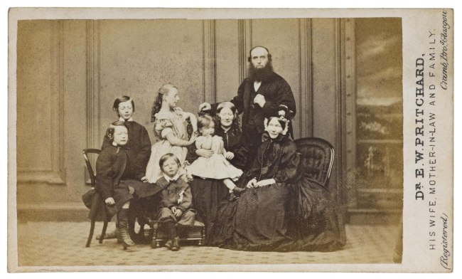 Cramb Brothers, of Glasgow. 'Dr E W Pritchard, His Wife, Mother-in-Law and Family' 1865