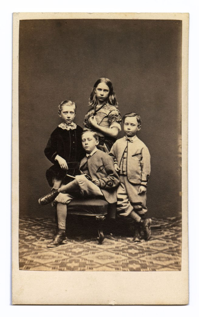 Marcus Guttenberg, Bristol. 'Portrait group of four unidentified children' 1860s-1870s