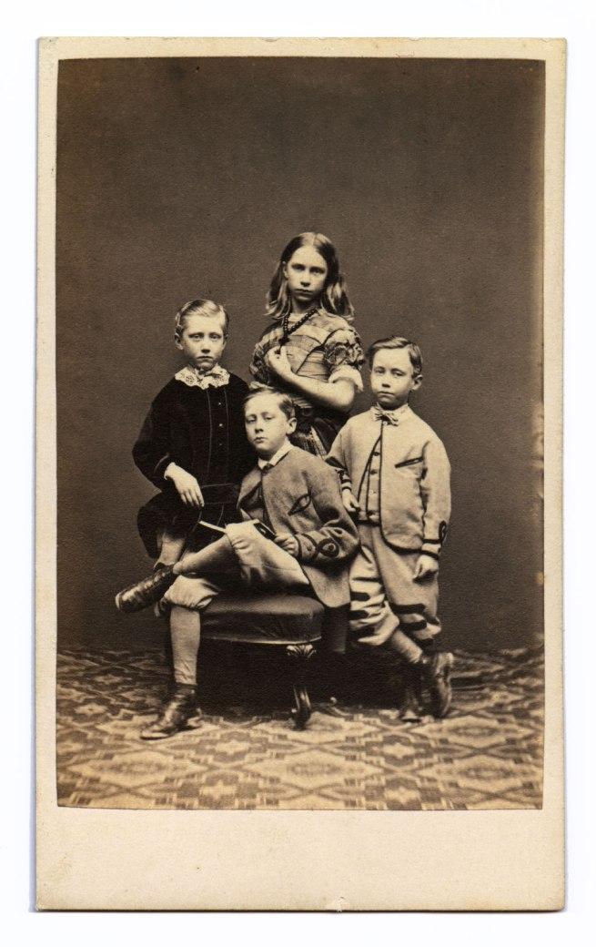 Marcus Guttenberg, Bristol. 'Portrait group of four unidentified children' 1860s-1870s