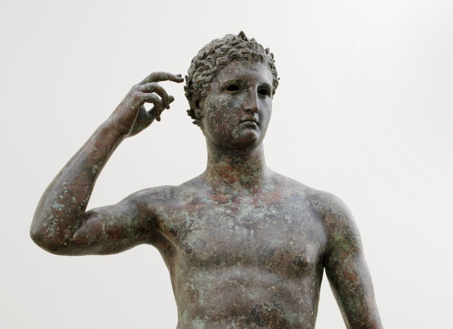 "Victorious Athlete, ""The Getty Bronze"" 300-100 B.C. (detail)"