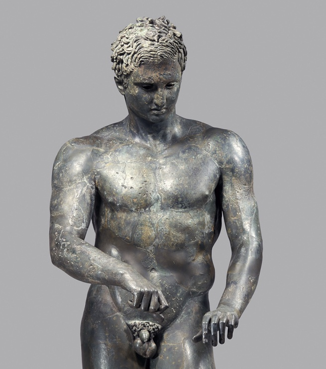 "Athlete, ""The Ephesian Apoxyomenos"" A.D. 1-90 (detail)"