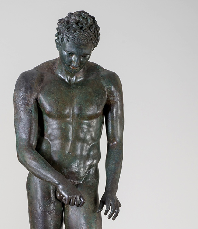 "Athlete ""The Croatian Apoxyomenos"" 100-1 B.C. (detail)"