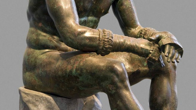 "Seated Boxer, ""The Terme Boxer"" 300-200 B.C. (detail)"
