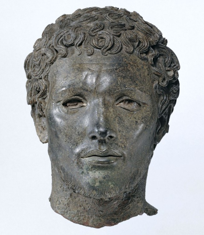 Portrait of a North African Man, from Cyrene (in present day Libya), 300-150 B.C.