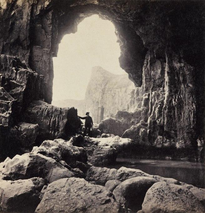 Francis Bedford. 'Lydstep - the Natural Arch' 1860s