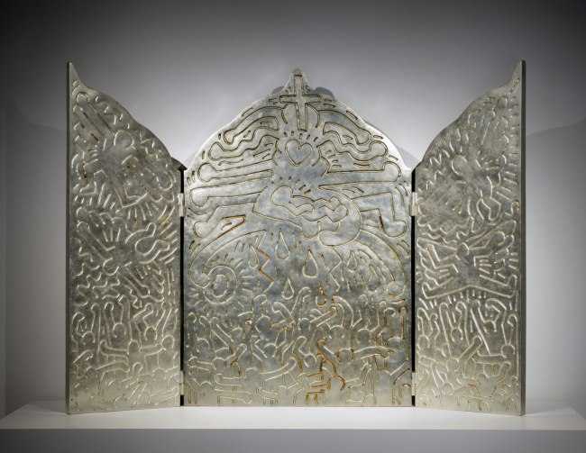 Keith Haring (born 1958, died 1990) 'Altar Piece' 1990 (cast 1996)
